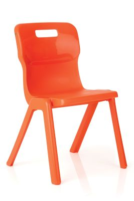 Titan Plus Anti Bacterial Classroom Chairs In Orange