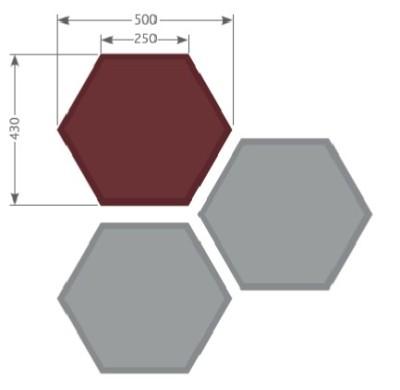 Tansad Hexagonal Acoustic Wall Tiles Dimensions