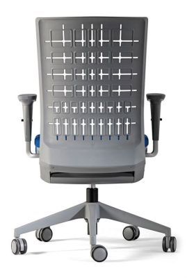 Designer Task Chair With Grey Anti Oxidant Back, Uv Resistante And Anti-static