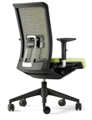 Designer Winner Swivel Chair With Mesh Back, Green Slideing Seat