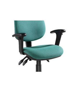 Pricebuster Computer Chair In Green With Height Adjustable Arms And Soft Polyeurathane Pads