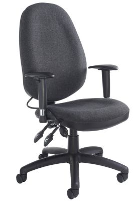 Sofia Executive Office Chair In Black With Height Adjustable Arms