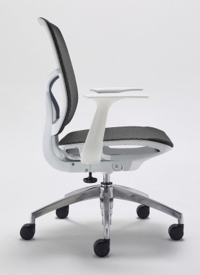 Zico Mesh Chair With Arms Side View