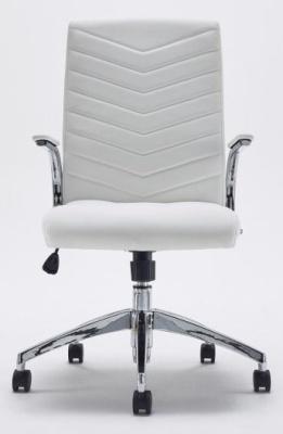 Baresi White Leather Executive Chair
