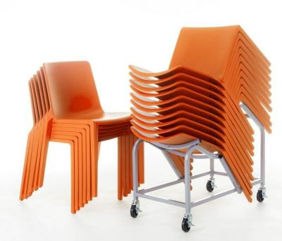 Plaza Chair Orange Stack