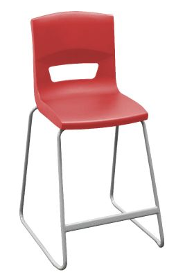Postura Plus Classroom High Stool Red