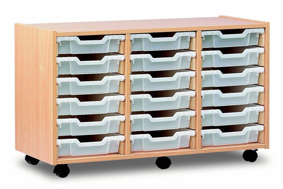 triple shallow storage unit 18 shallow trays online. Black Bedroom Furniture Sets. Home Design Ideas