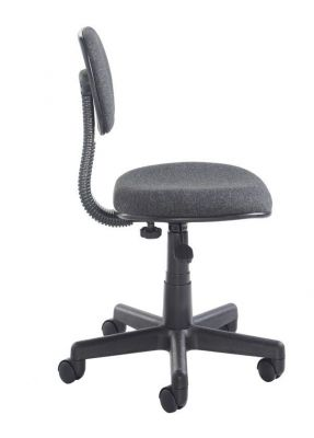 Marina Adjustable Computer Chair In Black Fabric