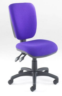 Icon Medium Back Operator Chair In Purple Upholstery With Spider Base And Castors