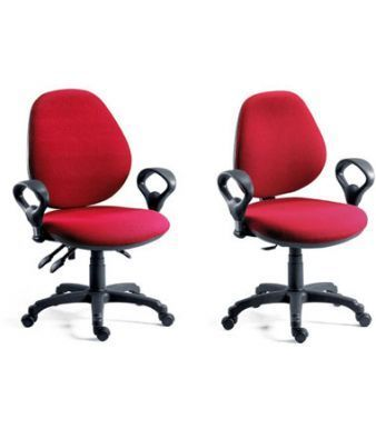 Byron Asynchronous And Permanent Contack Office Swivel Chairs In Red