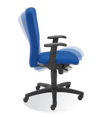 Bolero Executive Chair With Adjustable Back In Blue Fabric