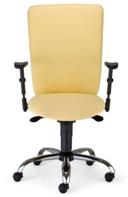 Bolero Dynamic Chair In Cream Fabric With Lockable Backrest,