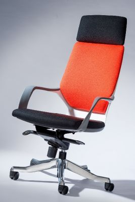 Caron High Back Designer Chair Xtreme Fabric Back