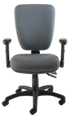 Icon Computer Chair With Adjustable Armrests And Swivel Base In Grey