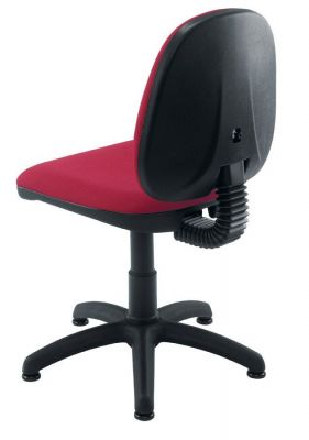 Swift Computer Chair In Dark Red Fabric With Stable Five Star Swivel Base