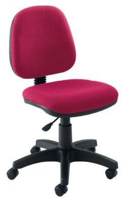 Swift Dark Red Medium Back Operator Chair With Black Castors