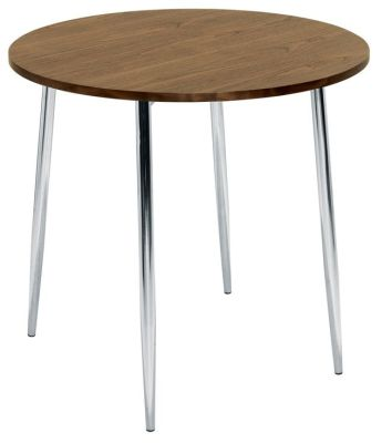Eliza 4 Leg Cafe Table Walnut Top