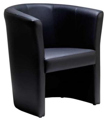 Dulverton Black Leather Tub Chair