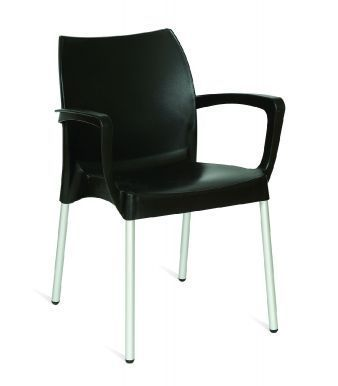Romania Outdoor Poly Armchair In Black