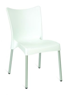 White Value Stacking Outdoor Use Poly Chair