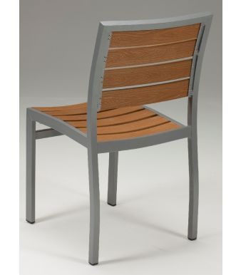 Vesu Artificial Teak Side Chair Rear View