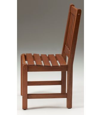 Tiverton Outdoor Hardwood Side Chair Side View