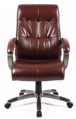 Brown Leather Executive Chair Swivel