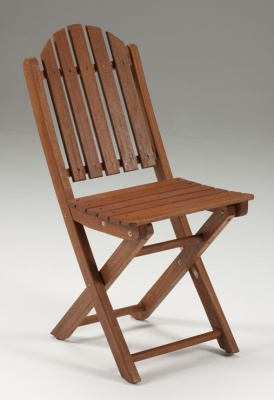 Leyton Folding Outdoor Wooden Side Chair