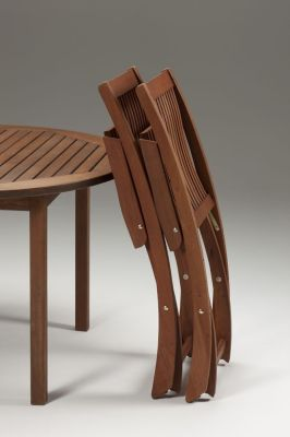 Westgate Outdoor Wooden Chair Folded