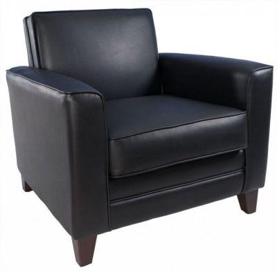 Cardiff Black Leather Armchair