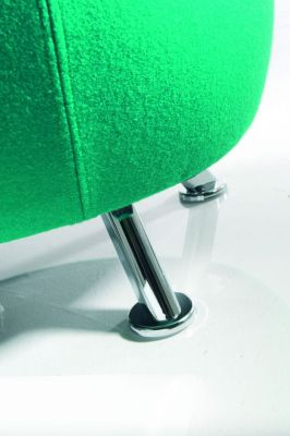 Chrome Legs Jambo Fabric Stool