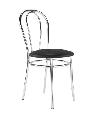Tulipan Chair Black Vinyl Seat And Chrome Frame