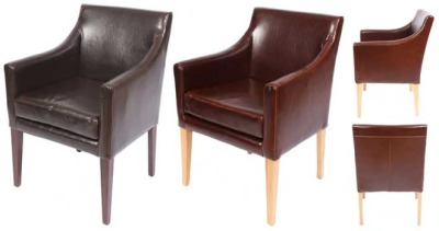 Plympton Leather Carver Chairs