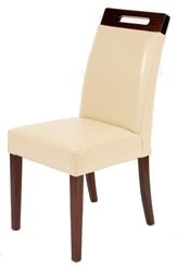 Rumwell Leather Dining Chair Ivory