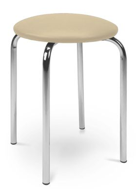 Chico Low Stool Cream Vinyl Seat