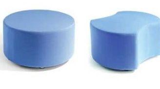 Flo Modular Circular And Segmented Blue Seats