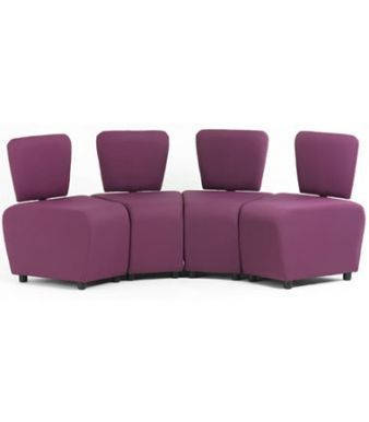 Zig Zag Common Room Seating With Back Support In Need Purple