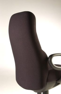 Concorde 24hr Operator Chair With Fully Supported Back In Brown Fabric