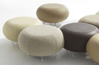 Pebble Beige And Browns Modular Seating In Selection Of Different Fabrics