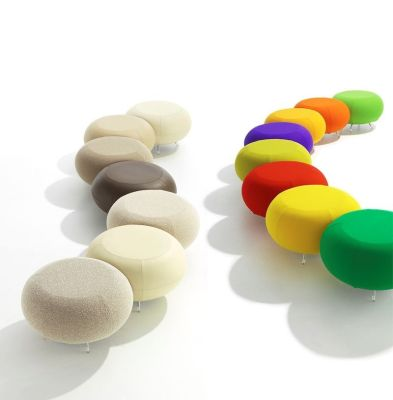 Pebble Multipurpose Stools In Different Colours Joined Together As Functional Reception Seating
