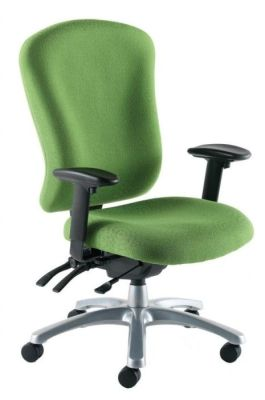 Zado Green Fabric 24 Hour Operator Chair With Swivel Base