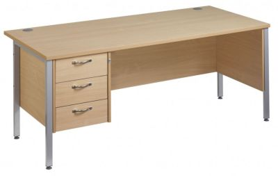 Gm Pedestal Desk With Three Drawers