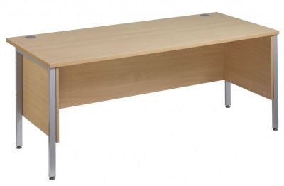 GM Rectangular H Frame Desks With Side Panels