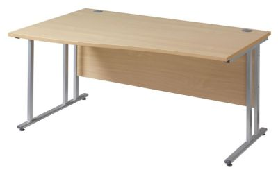 GM Left Hand Wave Desk With A Cantilever Frame