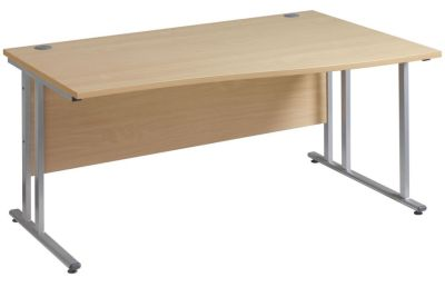 GM Right Hand Wave Desk With A Cantilever Frame