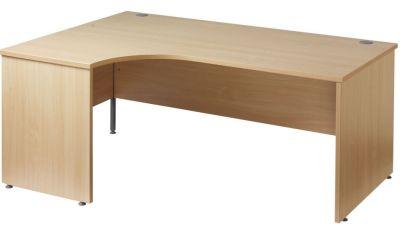 Gm Left Hand Corner Panel Desk In Beech
