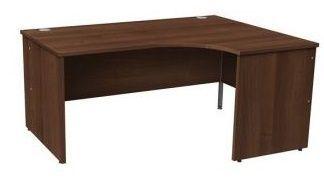 Gm Right Hand Walnut Corner Desk