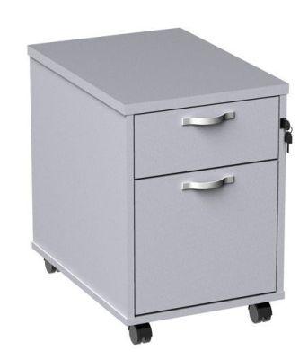 Duplex White Two Drawer Mobile Pedestal