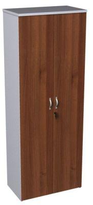 Duplex Walnut And White Tall Cupboard