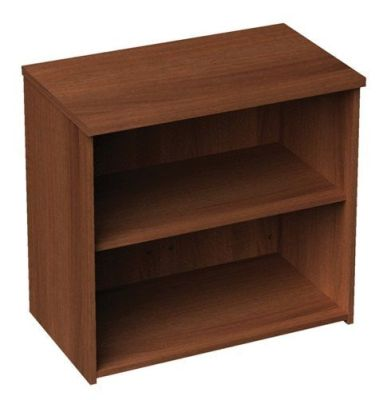 Duplex Low Walnut Bookcase